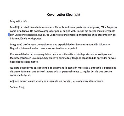 Cover Letter In Spanish how to say the letter y in spanish