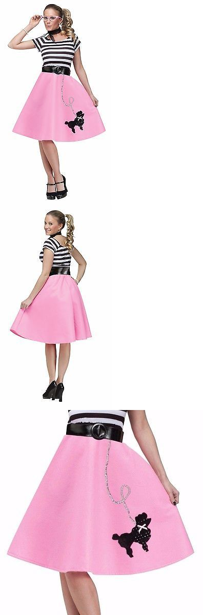 Women Costumes Womens Poodle Skirt 50S Halloween Costume Grease Greaser Adult Fancy Dress New BUY