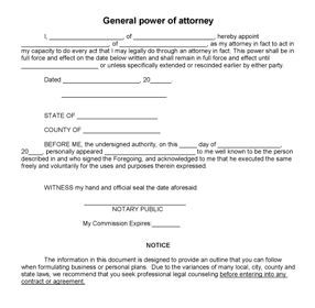 Power Of Attorney Form By Cookie Brown On Notary Biz Power Of