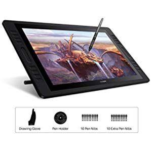 Huion Kamvas Pro 20 2019 19 5 Zoll Grafikzeichnungsmonitor Mit Batterielosem Tilt 8192 Stiftdrucktablett Mit 16 Drucktasten Hd Stift Display 1 Stifte Tablett