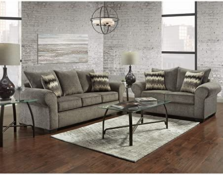 Overstock Sofatrendz Cherokee Pewter Sofa Amp Loveseat 2 Pc Set Living Room Sets Sofa And Loveseat Set Living Room Seating Area