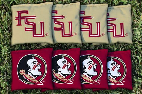 Florida State printed cornhole bags set of 8 bags