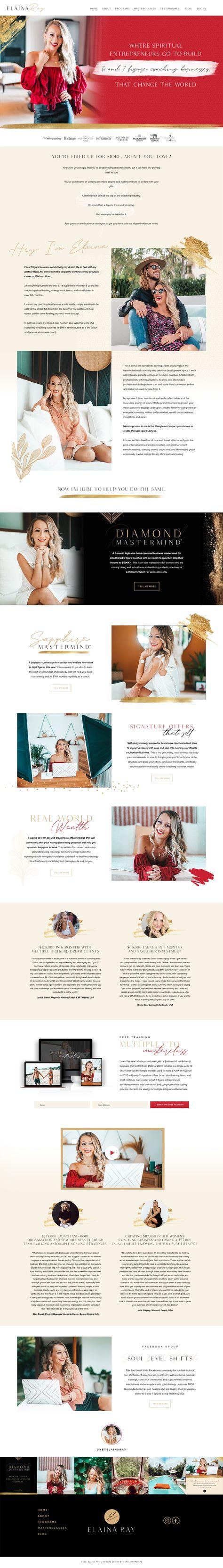 Elaina Ray Web Site