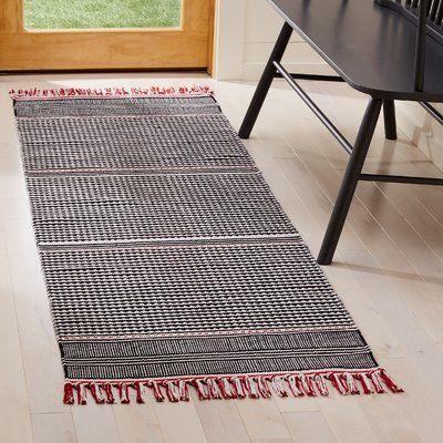 Wrought Studio Granada Striped Handmade Flatweave Multicolor Area Rug White Area Rug Area Rugs Beige Area Rugs
