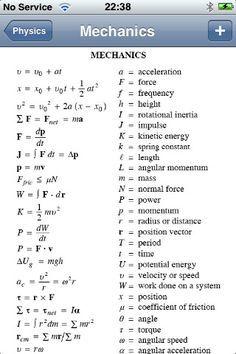 Physics Formulas screenshot #4...it's not Economics but still in the MATH family.