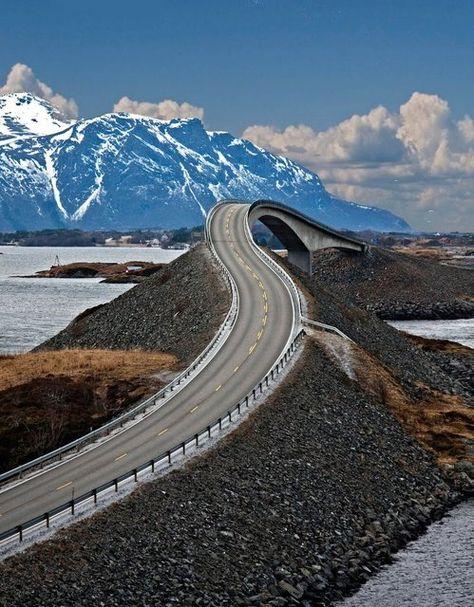 Mountain road, Norway.