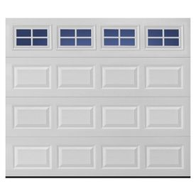 Traditional Series 9 Ft X 7 Ft Insulated White Garage Door With Windows Single Garage Door