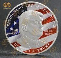 2017 Donald Trump Silver Eagle Coin Make America GREAT Again 45th President Flag