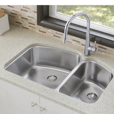 Elkay Lustertone 33 L X 21 W Double Basin Undermount Kitchen Sink Wayfair Undermount Kitchen Sinks Kitchen Renovation Elkay