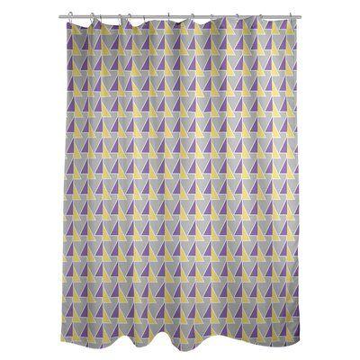 East Urban Home Shifted Arrows Single Shower Curtain Colour