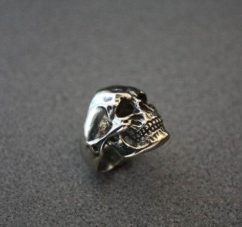 Jewelry ring, Jewelry, Ring, skull ring, heavy metal, gothic, black, biker ring, handmade ring, goth