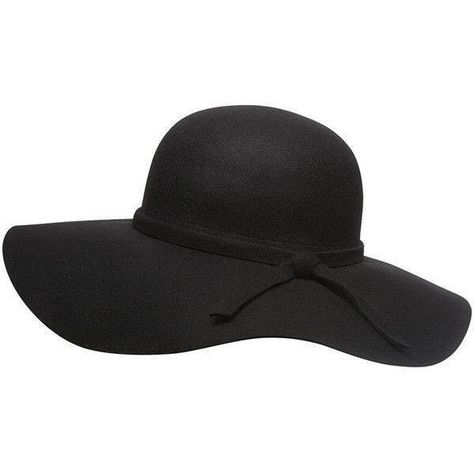 0c5f5fb2 Black Wool Floppy 60s Inspired Wide Brimmed Beach Summer Vacation Hat...  ($25
