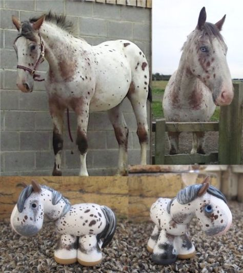 Custom painted clay horse from your picture by SpottedHorseKorral