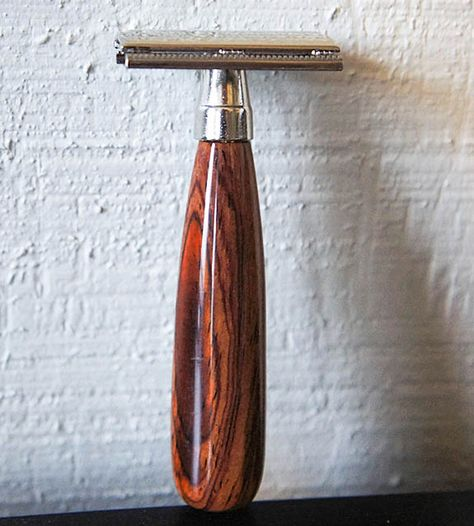 Double-Edged Razor with Wooden Handle |  Imperium Woodcraft