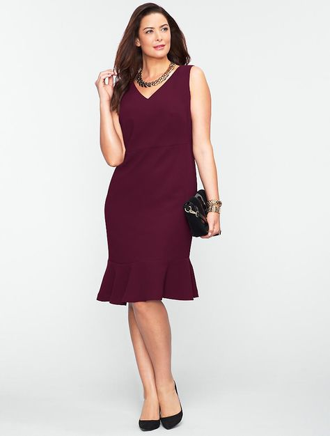 4db68374 Talbots - Seasonless Crepe Flounced Dress   Dresses   Woman Petites ...