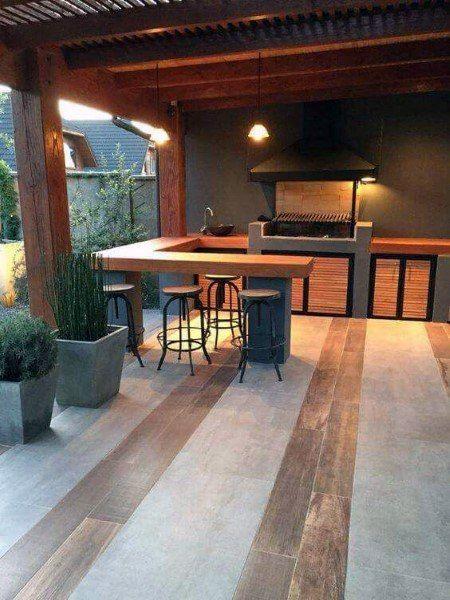 Die 50 Besten Hinterhof Bar Ideen Fur Den Garten Coole Wasserlocher Tatowierungen Patio Design Outdoor Kitchen Design Bbq Grill Design