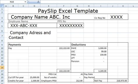 Payslip Template Format In Excel And Word is use for mentioning - payslip free download