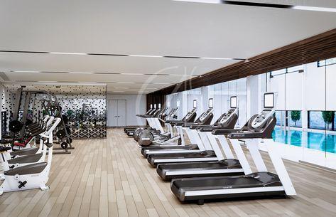 Super Fitness Interior Design Gym Treadmills 16 Ideas Gym Interior Floor To Ceiling Windows Architectural House Plans
