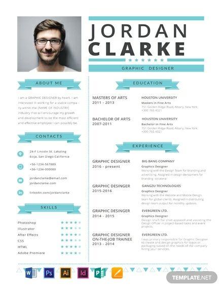 Hipster Resume Cv Template Word Psd Indesign Apple Pages Illustrator Publisher Hipster Resume Minimalist Resume Template Resume Template