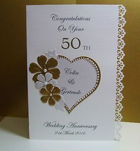 Wedding Card Lovely Picture Anniversary Cards Handmade 50th Anniversary Cards Golden Anniversary Cards