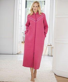 Robe De Chambre Courtelle Zippee Robe De Chambre Robe De Travail Robe