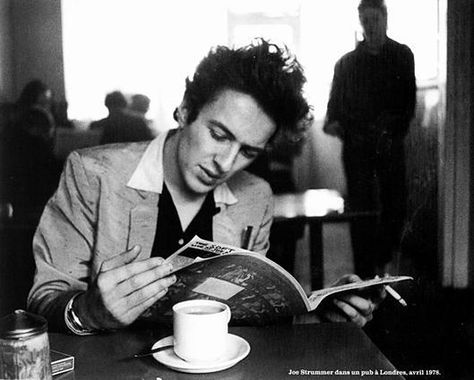 "Joe Strummer. ""If I had five million pounds I'd start a radio station because something needs to be done. It would be nice to turn on the radio and hear something that didn't make you feel like smashing up the kitchen and strangling the cat."" — Joe Strummer"