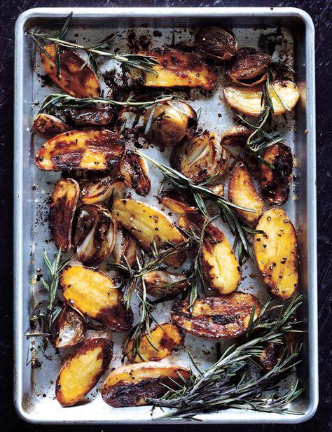 // balsamic baked potatoes