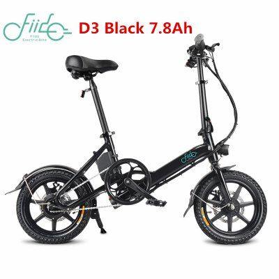 Fiido D3 14 Inch Electric Bicycle 7 8ah 36v Aluminum Alloy Led Front Light Folding Bike Sale Price Reviews Gearbest Folding Electric Bike Electric Bike Electric Moped