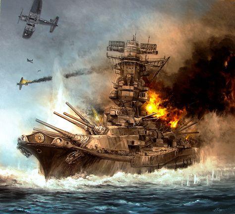 Si alguien pensaba que ya no existían más láminas sobre la agonía del Yamato, estaba muy equivocado... He aquí otra versión, cortesía de Lukasz Kasperczyk. Más en www.elgrancapitan.org/foro