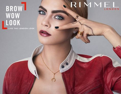 Actress and model Cara Delevingne turns up the glam factor in her latest Rimmel London campaign.