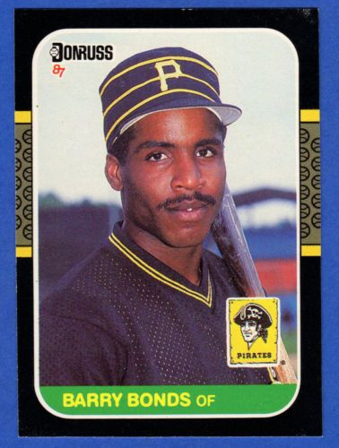 1987 Donruss Baseball Barry Bonds Rc Card 361 Pittsburgh Pirates Barry Bonds Baseball Cards Baseball Cards For Sale