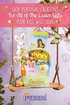 Whether she loves fancy frills or playful prints shell love an for you that means personalized easter baskets home negle Gallery