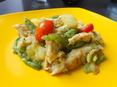 Q B Le ricette light: Insalata di pollo al pesto con patate, fagiolini e pomodori ciliegia