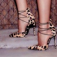 wish | 2017 Summer New Arrive casual sexy Stiletto Heel Bandage Sandals
