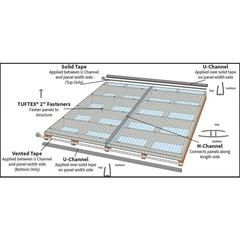 Tuftex Multi Wall 6mm Panel Clear 4 Ft X 8 Ft Corrugated Clear Polycarbonate Plastic Roof Panel Lowes Com In 2020 Roof Panels Clear Roof Panels Polycarbonate Roof Panels