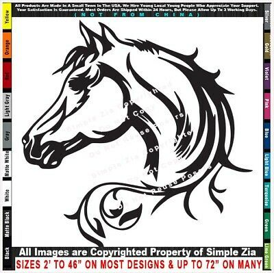 """Patterned Horse Car Bumper Sticker Decal  /""""SIZES/'/'"""