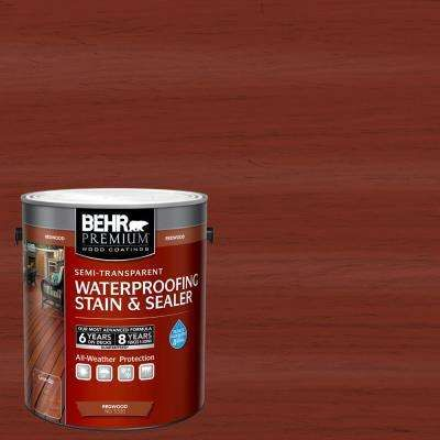 Behr Premium 1 Gal St 330 Redwood Semi Transparent Waterproofing Exterior Wood Stain And Sealer 533001 The Home Depot Exterior Wood Stain Staining Deck Staining Wood