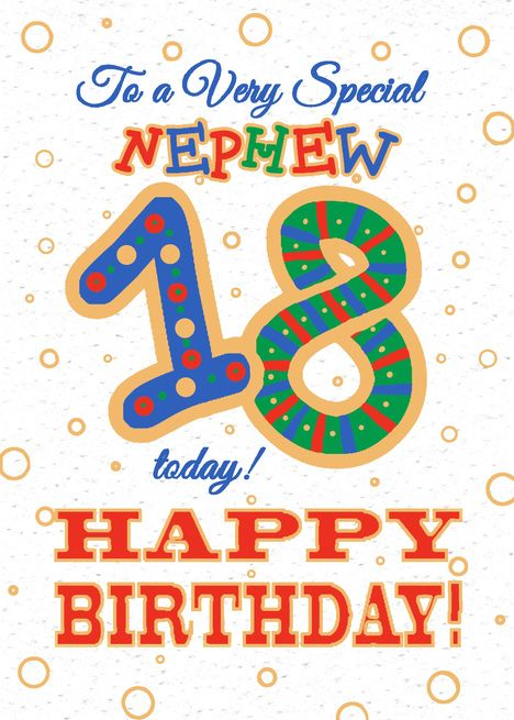 Colourful 18th Birthday Card For Special Nephew Card Ad Sponsored Birthday Colourful Card Card 18th Birthday Cards 18th Birthday Birthday Cards
