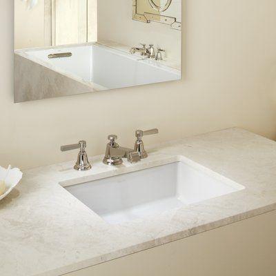 Kohler Vertical Ceramic Rectangular Undermount Bathroom Sink With
