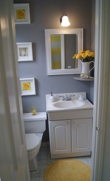Pin On Home Decor Ideas 40 Stylish Small Bathroom Design Ideas Yellow Bathroom Decor Yellow An In 2020 Gray Bathroom Decor Half Bathroom Decor Small Grey Bathrooms