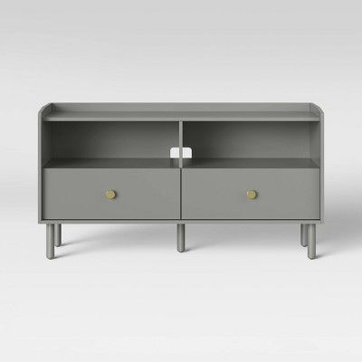 Pin By J On Living Room Media Cabinet Adjustable Shelving Grey Tv Stand