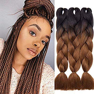 24 60cm 300g Extension Pour Tresse Africaine Colore 3 Trames Rajaout Cheveux Tresses Africaines Tresse Africaine De Couleur Idee Coiffure Cheveux Crepus
