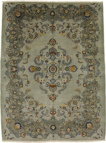 Magic Rugs Beautiful Great Shape Vintage Sage Kashan Persian Style Rug Oriental Area Carpet 11x14 In 2020 Persian Style Rug Area Carpet Rug Styles