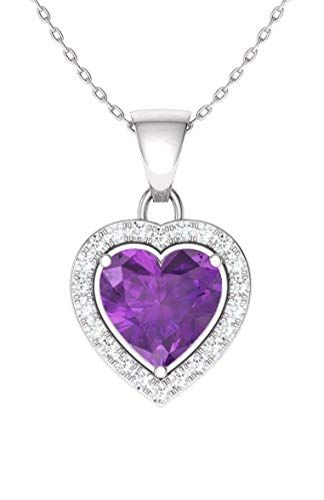 0.40 Carat Pendant with Chain Diamondere Natural and Certified Gemstone Solitaire Petite Necklace in 14k White Gold