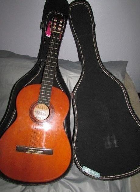 Yamaha G 55 1 Republic Of China Vintage Classic Acoustic Guitar With Case Yamaha Guitar Acoustic Acousticgui Yamaha Guitar Classic Guitar Vintage Guitars