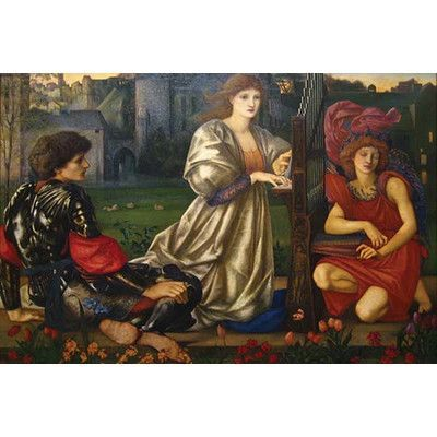 Buyenlarge 'The Love Song' by Sir Edward Coley Burne-Jones Painting Print Size: 28