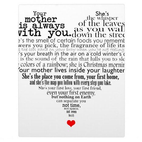 Mother S Day Poem Plaque Zazzle Com Mothers Day Poems Poems
