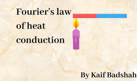 Fourier S Law Of Heat Conduction In 2020 Conduction Energy Transfer Thermodynamics