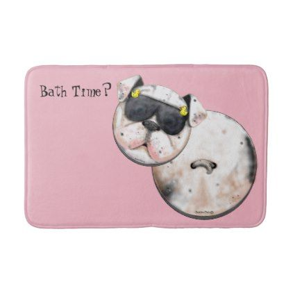 Buttonpets Bulldog Puppy Bath Mat Zazzle Com Bulldog Puppies