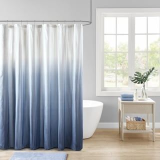 Madison Park Loire Ombre Printed Seersucker Shower Curtain In 2020